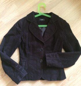 Вельветовый женский пиджак 42 размер