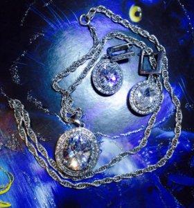 Ювелирный набор(серебро)