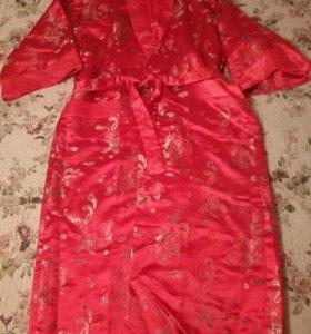 Халат двухсторонний, шёлк, унисекс, до 54 размера