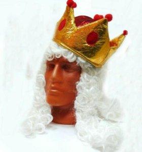 Парик короля маскарадный