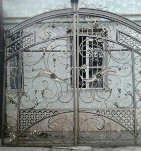 Кожаные ворота двери перила