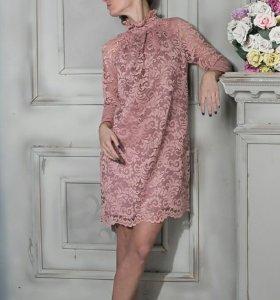 Гипюровое платье новое.
