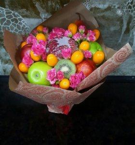 Съедобный букеты! Фруктовые, овощные