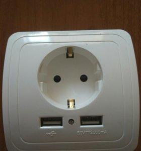 Розетка 220В с USB
