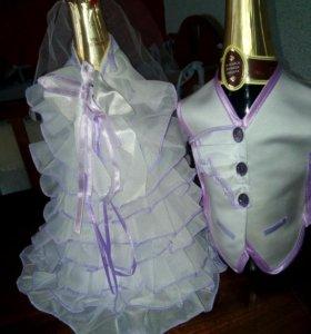 Свадебные аксессуары для шампанского