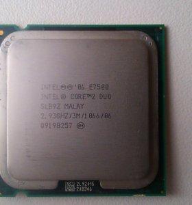 Продам процессор Intel core 2duo Е7500