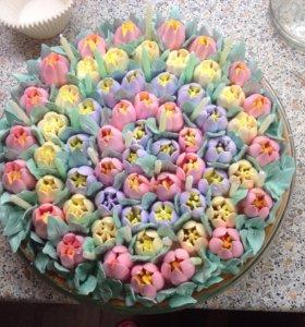 Цветочная полянка - торт на заказ!