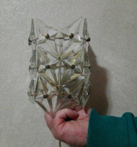 Светильник хрустальный,2 штуки