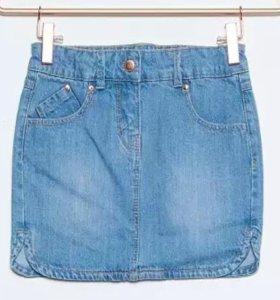 Джинсовая юбка от 2 лет