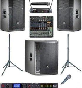 JBL PRX Комплект с пультом микрофонами + процессор
