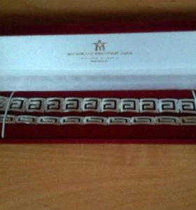 Серебряные парные браслеты 925.