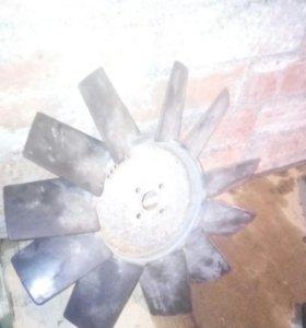 Вентилятор и шкив змз