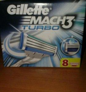 сменные кассеты для бритвы Gillette Mach 3 Turbo