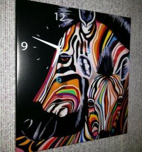 Картины с часами на заказ