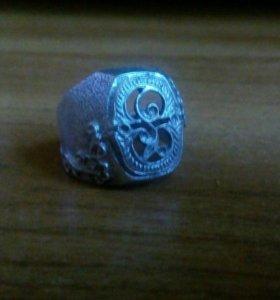 Кольцо серебряное мужское проба есть