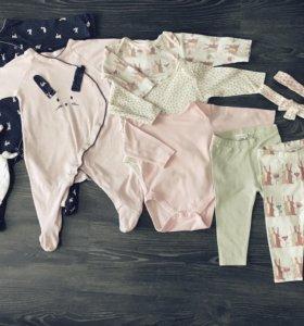 Пакет одежды для девочки 6-9 мес. (68-74 см) Next