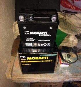 Акб на мотоцикл MORATTI