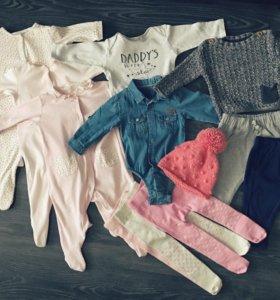 Пакет одежды для девочки 6-9 мес. (68-74 см)