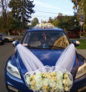 Украшение для свадьбы на машину