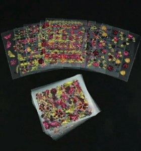 3D наклейки для ногтей