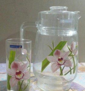 Набор кувшин+ стаканы