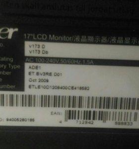 """Монитор 17"""" acer v173"""
