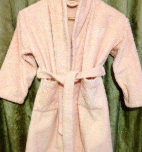Махровый халат для девочек 5-7 лет (Франция)