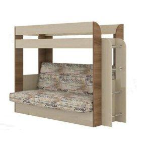 Двухярусная кровать с диваном НОВАЯ