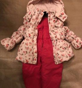 Комплект верхней одежды:куртка и полукомбинезон