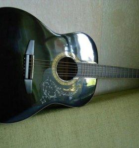 Черная Акустическая Гитара