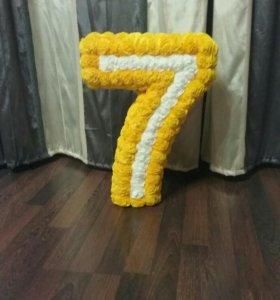 Объемная цифра 7
