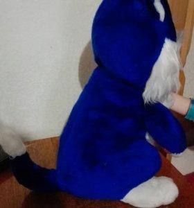 Синий кот игрушка мягкая