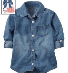 Новая джинсовая рубашка Carter's