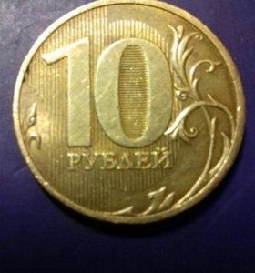 10 рублей 2010 СПМД;   5 рублей 1997 СПМД