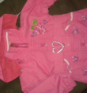 Куртка на девочку 74-86