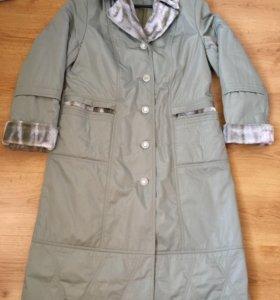 Демисезонное пальто на синтепоне