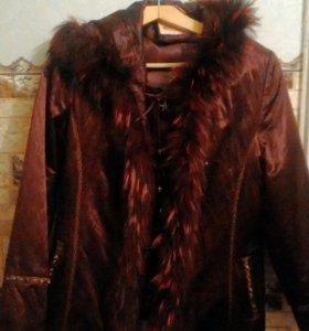 Куртка с натуральным.мехом.