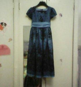 Сине-чёрное платье
