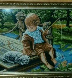 Картина (ручная работа,вышивка крестом)