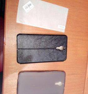 Два чехла и стекло на смартфон PPTV King 7