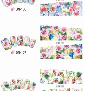 Слайдеры для ногтей BN 097-108