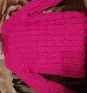 Новый вязаный свитер для девочки