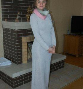 Вечернее длинное платье.