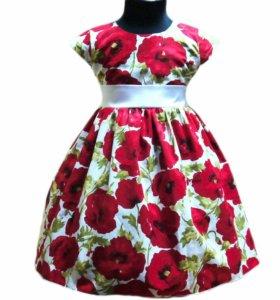 Платье детское новое пышное.