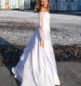 Свадебное платье кружево белое