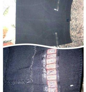 Чёрная юбка, стрейч