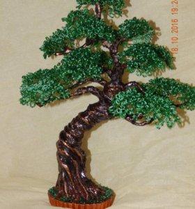 Композиции,цветы и деревья из бисера на заказ