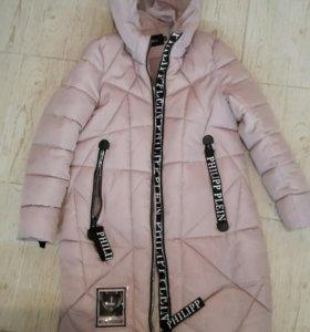 Зимнее пальто удлинненое