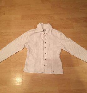 Рубашка белая девочке 8-9