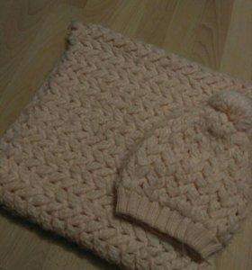 Шарф шапка, комплект